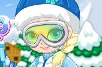 Baby Elsa Ski Trip