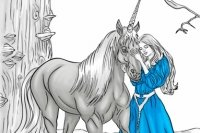 Image de Licorne à colorier