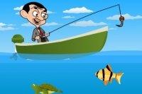 Mr Bean pêche